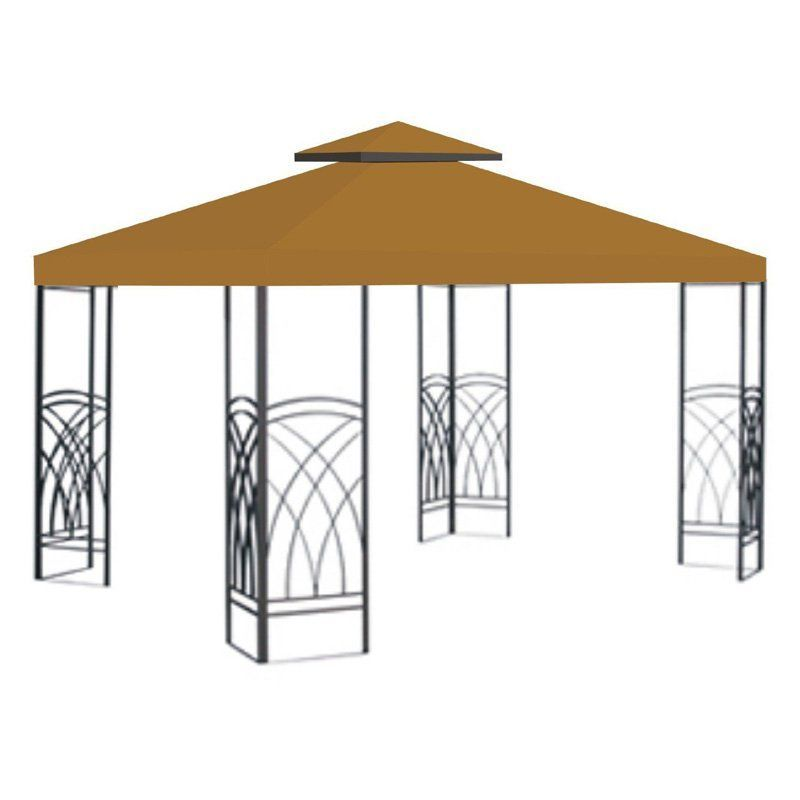 Sunrise 10 X 10 Ft Gazebo Replacement Double Tier Canopy Cover Gazebo Replacement Canopy Gazebo Canopy Canopy Outdoor