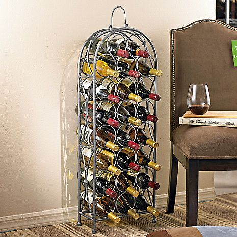 Parisian Wrought Iron Wine Rack at Wine Enthusiast - $59.95