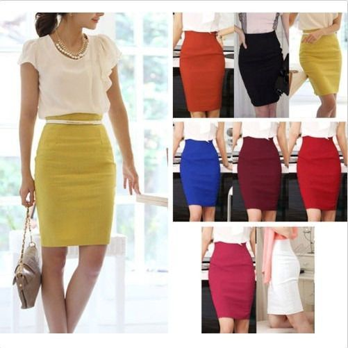 2c10f24e41 2014Hot Womens Fitted Business Knee Long Slimming High Waist Office Pencil  Skirt