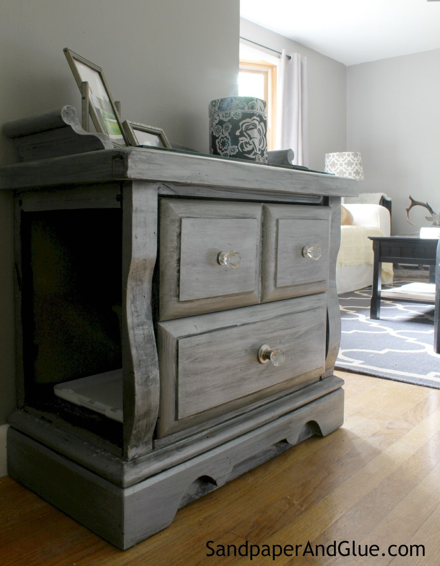 furniture to hide litter box. secret litter box in an old end table furniture to hide r