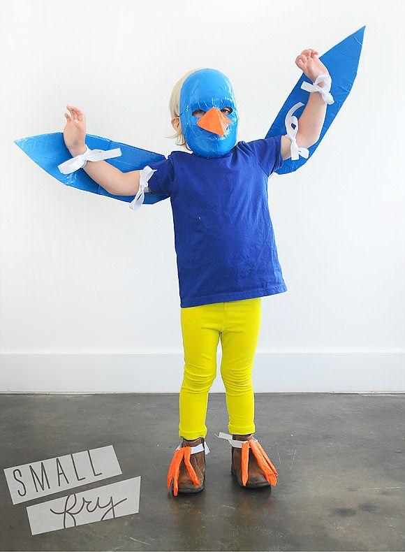 6 easy diy halloween costumes for kids bird costume for Simple halloween costumes for kids