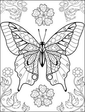 world of butterflies coloring page | Color Me Happy | Pinterest ...