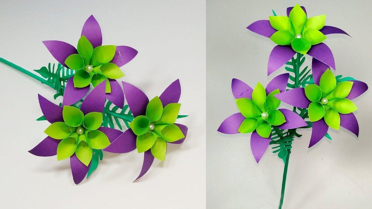Diy Very Beautiful Paper Stick Flower Room Decoration Stick Flower