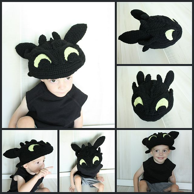 Ravelry: Toothless (9 Month - Adult) Hat Pattern, How to ...