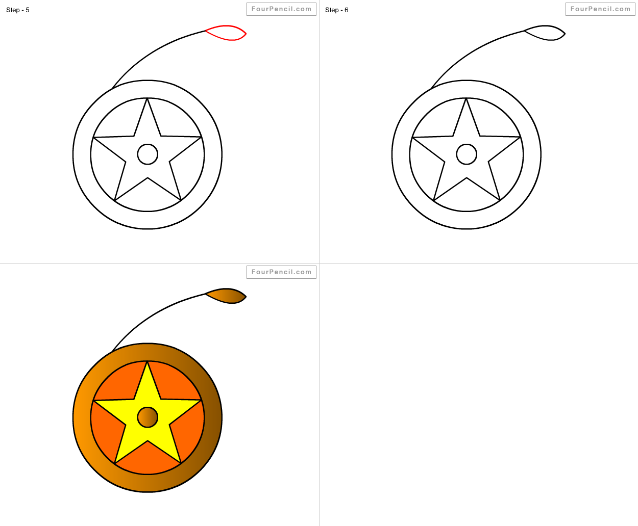 How To Draw Yo Yo For Kids Step By Step Drawing Tutorial