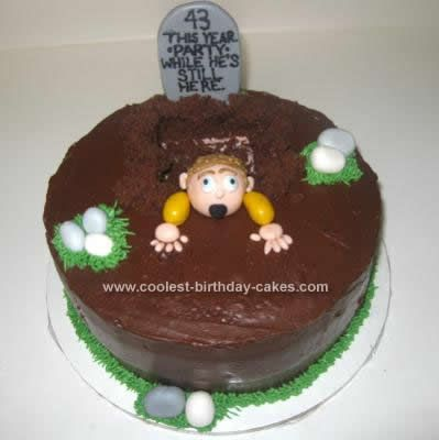 Coolest One Foot in the Grave Cake Halloween cakes Cakes and Cake