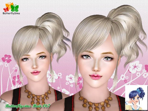 Underneath the Sims 3: Free Butterfly Sims Hair 067 - Donation!!!