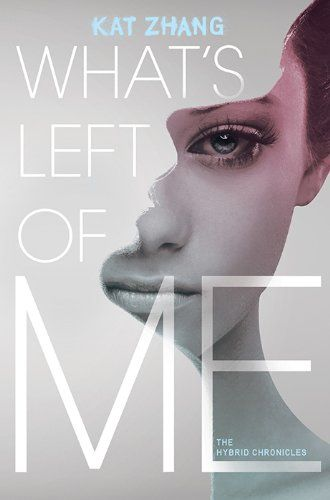 What's Left of Me: The Hybrid Chronicles, Book One (K 357)set where everyone is born with 2 souls. But 1 soul is dominant, and in early childhood, the other soul fades away. That didn't happen for Addie and Eva. Now 15, Eva clings to life inside the body she shares with Addie, although she can no longer speak or even move. Addie does everything she can to hide the presence of her sister soul. Eva's very existence is illegal. If their secret is revealed, it could mean death for both of them.