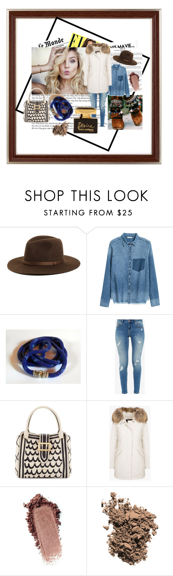 """""""Winter with jeans!"""" by laura-gas ❤ liked on Polyvore featuring Brixton, Ted Baker, Burberry and Dolce&Gabbana"""