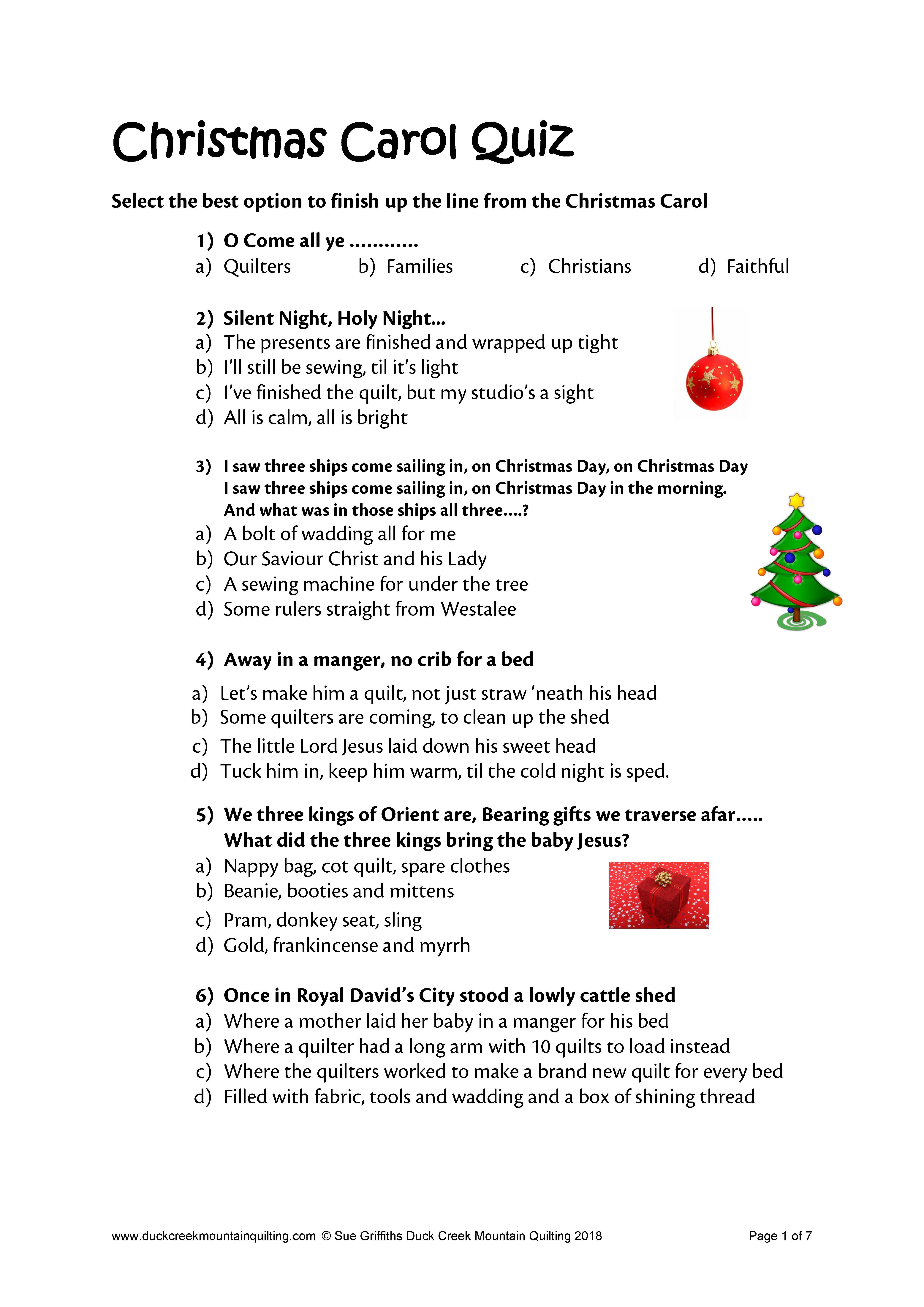 Funny Christmas Trivia Multiple Choice Idalias Salon