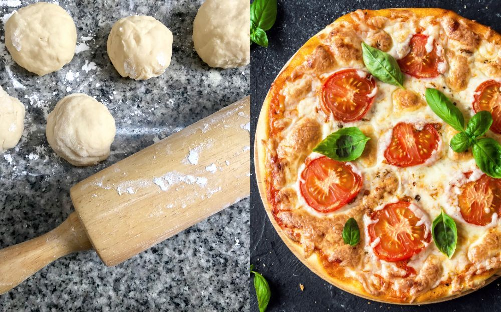 snabb pizzadeg med jäst