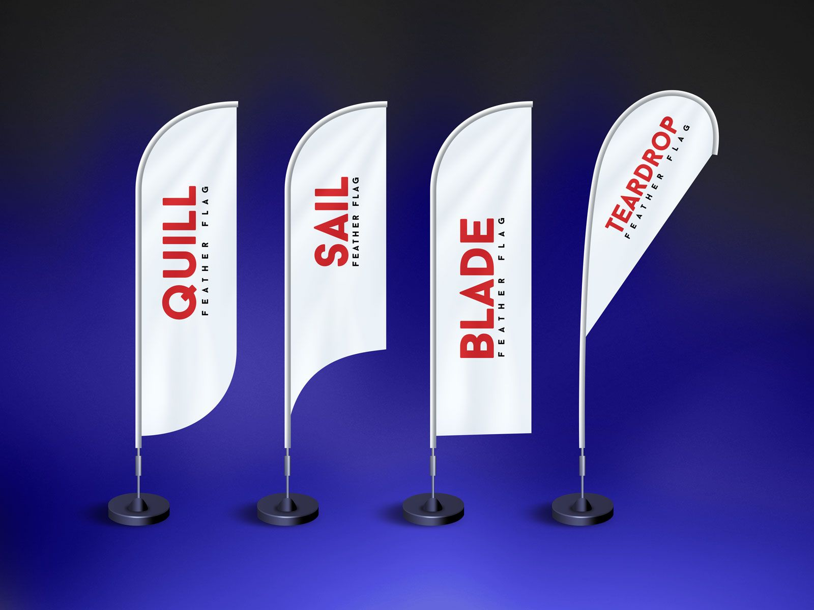 Feather Flag Banner Mockup In 2020 Feather Flags Flag Banners Flag