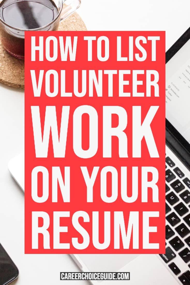 How do you list volunteer work on a resume resume