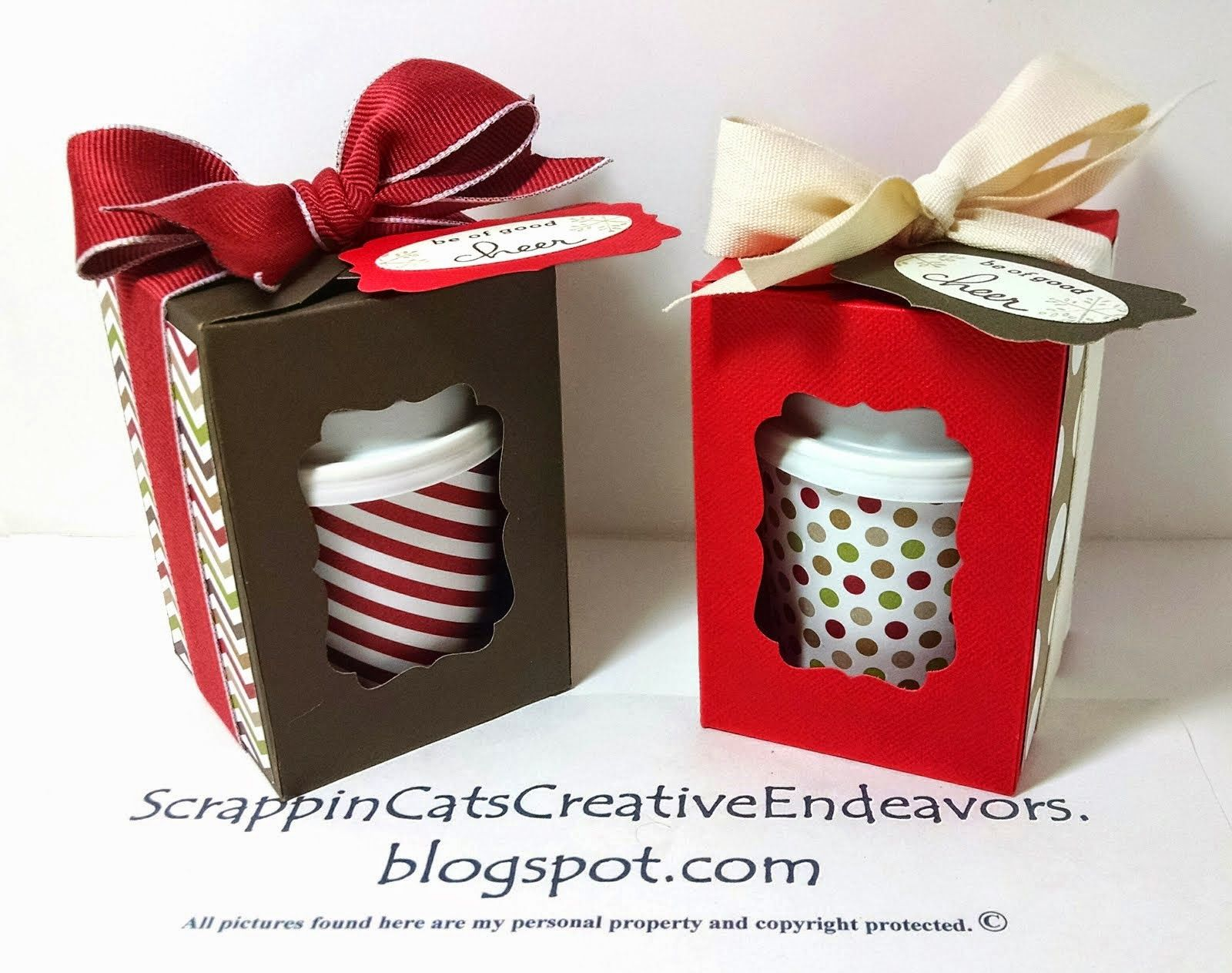 I was inspired to create these little thank you gifts by this pin on Pinterest . The designer of this box had a very basic measurement a... #coffeecups