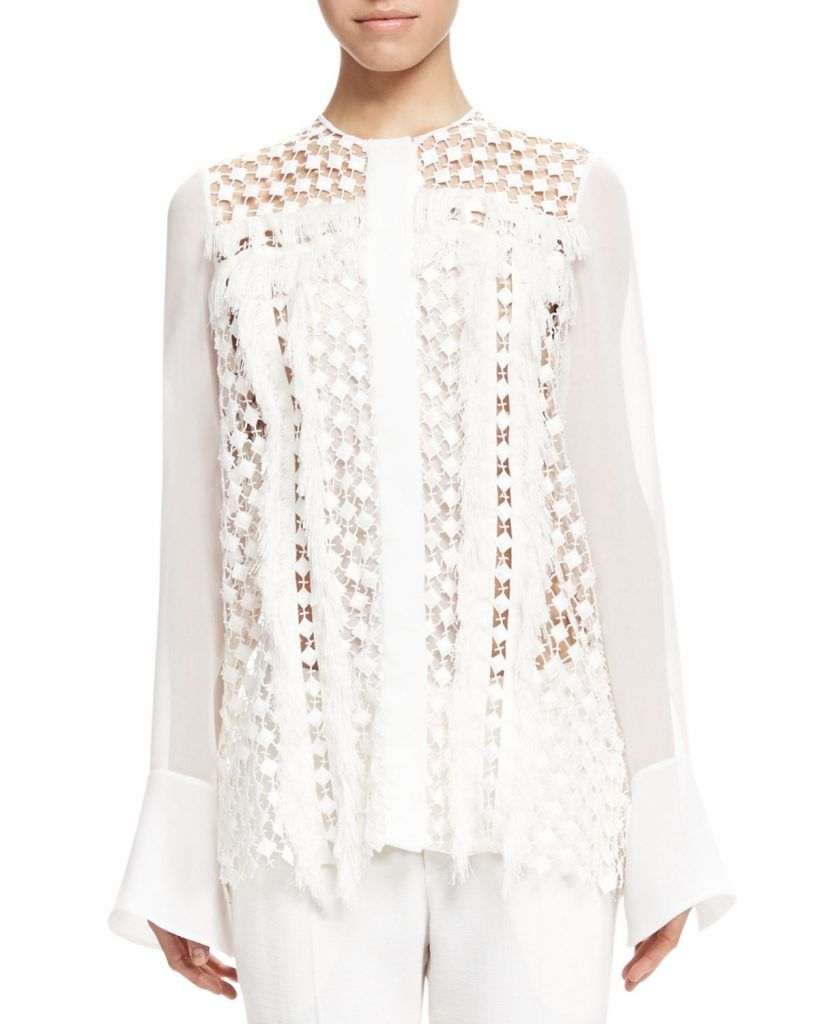 f0fd9ab268bd1e Chloe Fringe Trim Lace Blouse   Stunning Lace Blouse in 2019   How ...