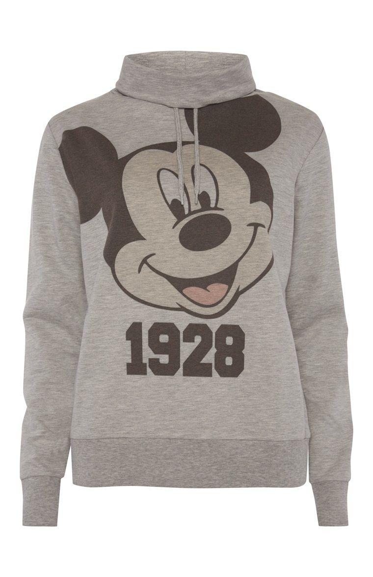 17fbf69af6b29 Grey Mickey Mouse Cowl Neck Jumper Primark
