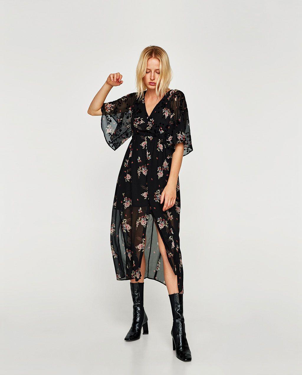 vestido largo aberturas fall winter 2017 style stuff pinterest lange kleider kleider. Black Bedroom Furniture Sets. Home Design Ideas