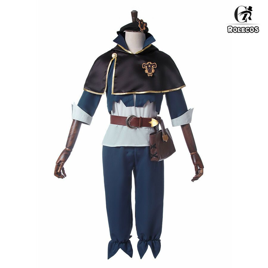 Black Clover Asta Yuno Finral Roulacase Cloak Uniform Outfit Cosplay Costume