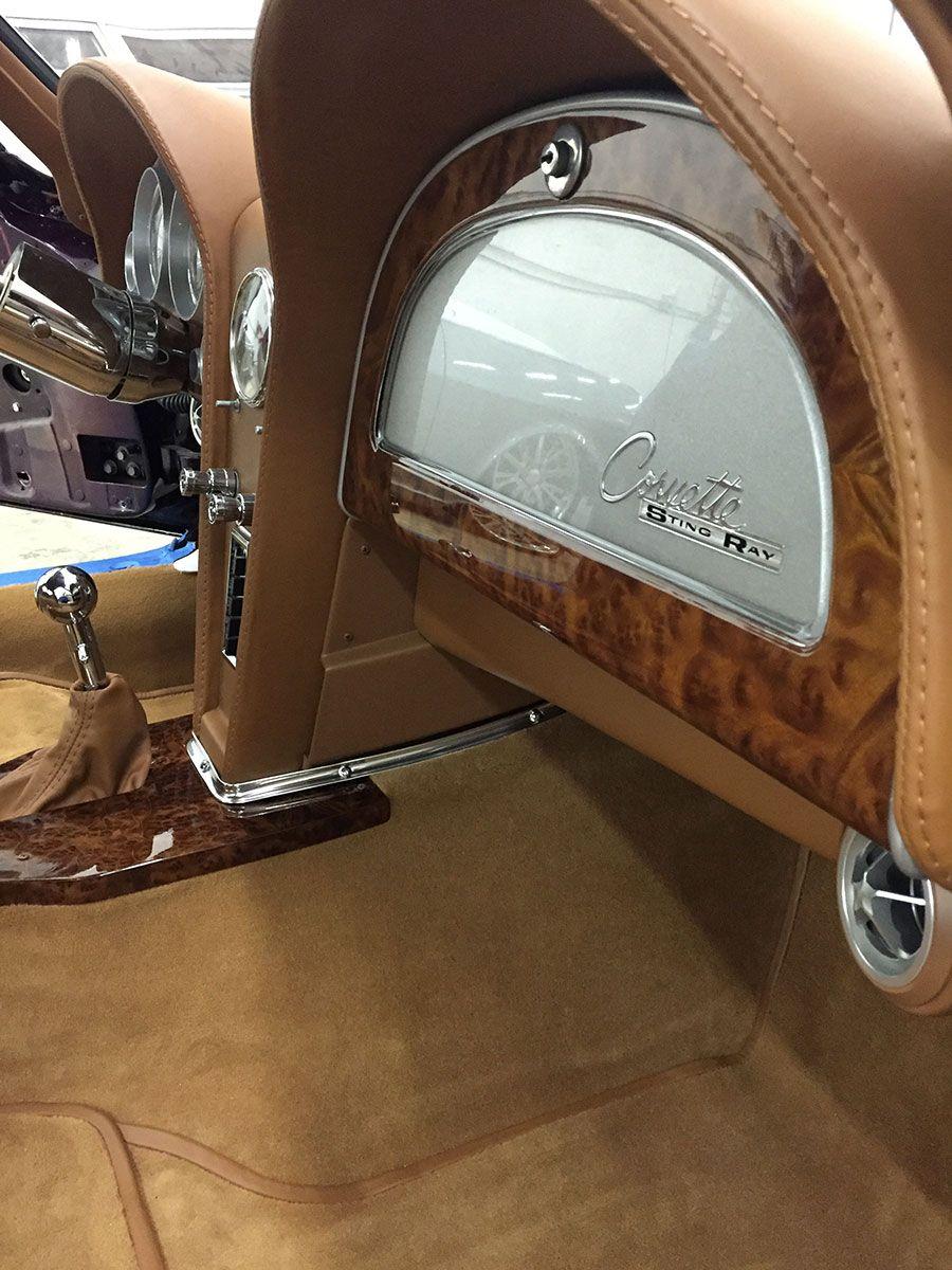 1963 Split Window Corvette Stingray Custom Leather Interior By Bux Customs Hot Rod Interiors Custom Car Interior Car Upholstery Classic Corvette