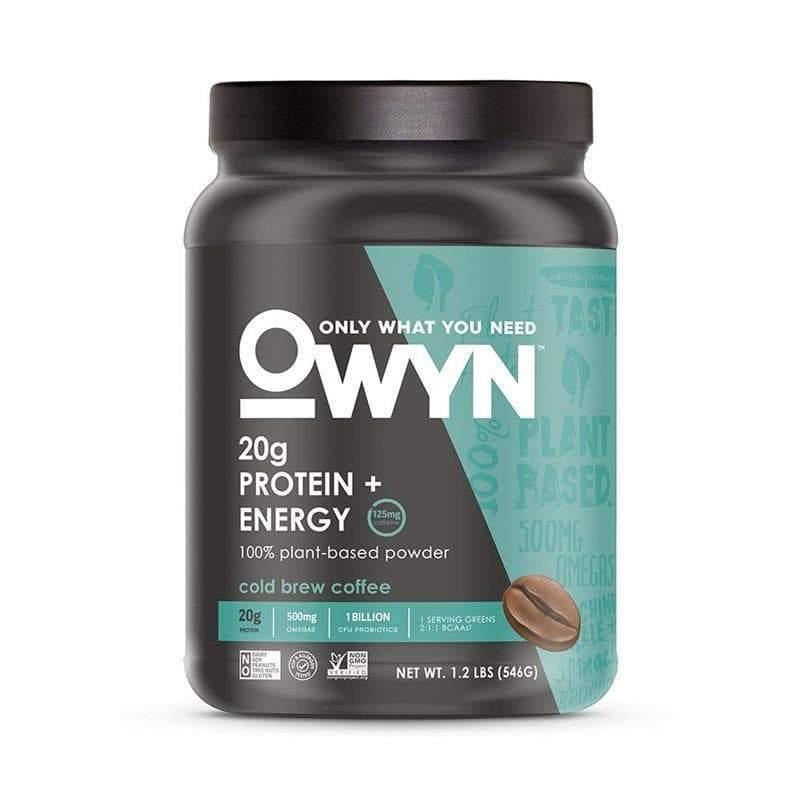 Owyn Vegan Plant Based Protein Energy Powder Cold Brew Coffee 1 2lb Jug Plant Protein Powder Plant Based Protein Powder Coffee Brewing