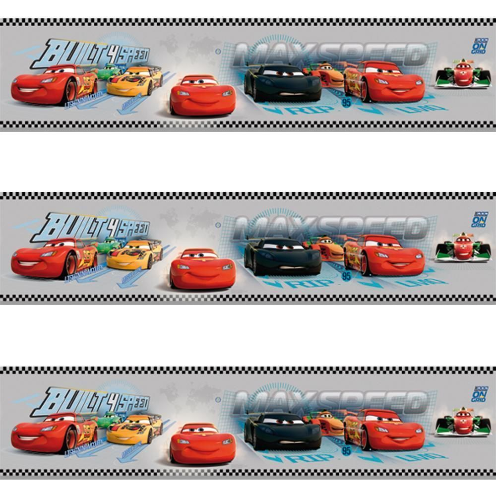 Great GALERIE OFFICIAL DISNEY CARS LIGHTNING MCQUEEN CHILDRENS WALLPAPER BORDER  GREY