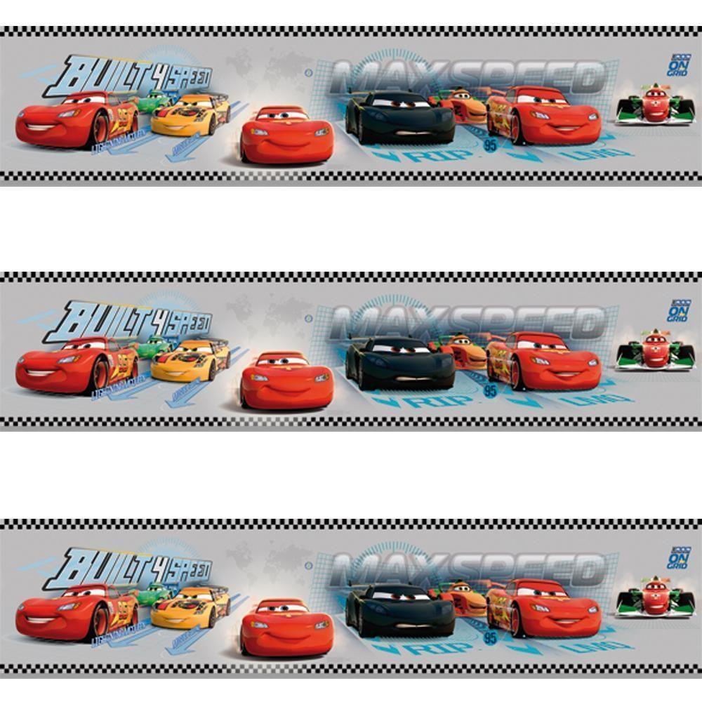 Great GALERIE OFFICIAL DISNEY CARS LIGHTNING MCQUEEN CHILDRENS WALLPAPER BORDER  GREY