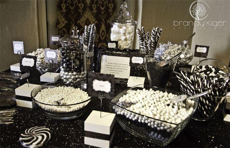 Superior Black U0026 White Candy Buffet. Festive Harlequin Fête Halloween Partyu2026