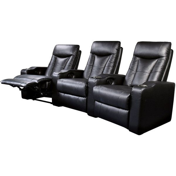 Faux Leather Home Theater Reclining Sofa Set 3 525 Liked On Polyvore Featuring Furniture Sofas Modern Mod