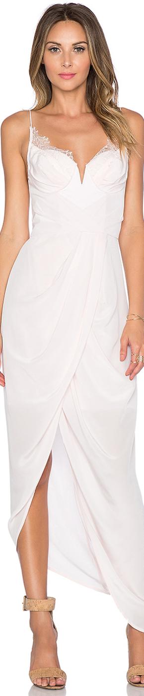 Zimmerman Silk Lace Maxi Dress White Chic