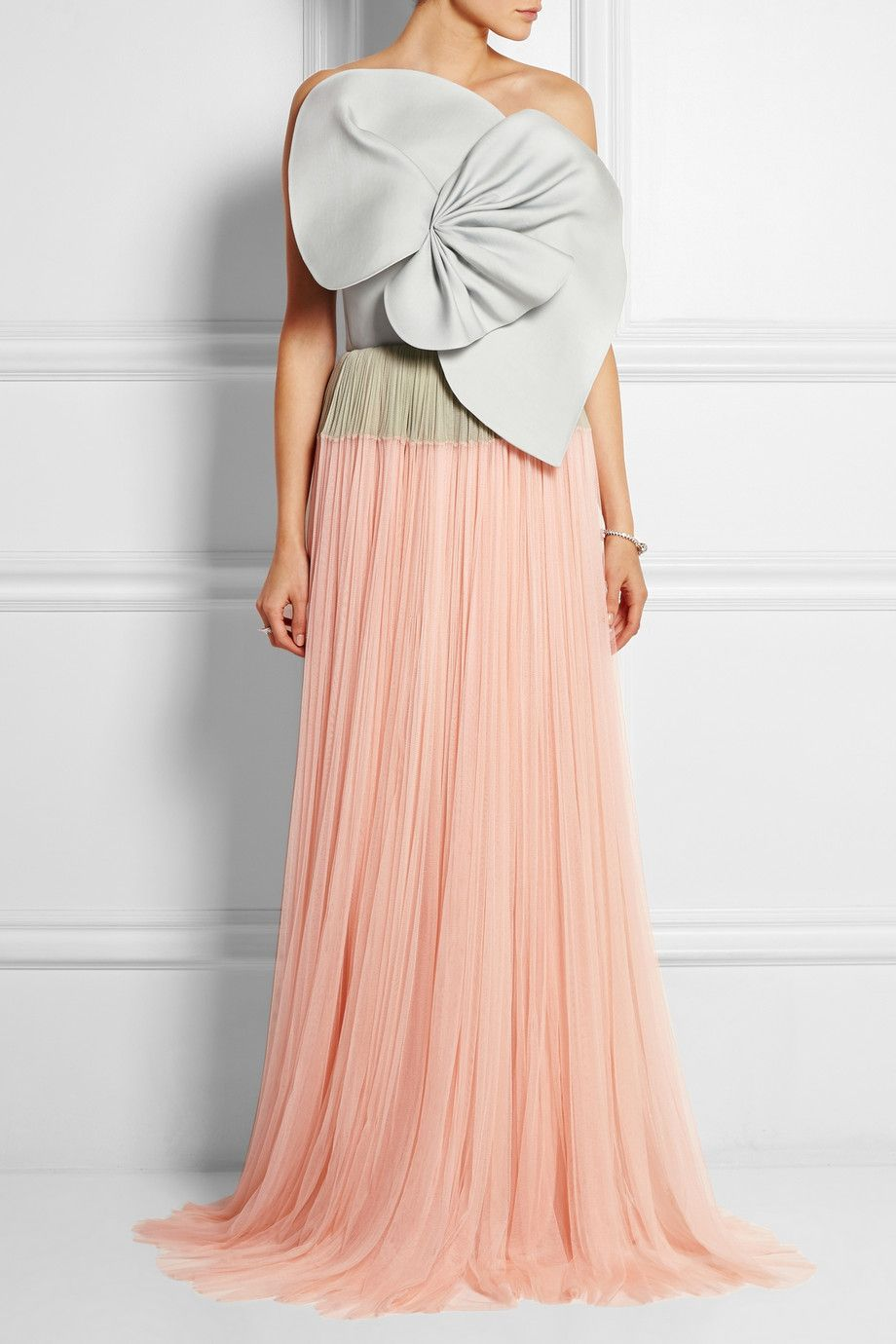 DELPOZO | Strapless twill and tulle gown | NET-A-PORTER.COM DELPOZO Strapless twill and tulle gown $11,050