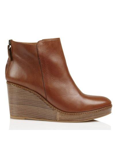 Bottines compensées Bianca Marron by ANTHOLOGY PARIS | Shoes