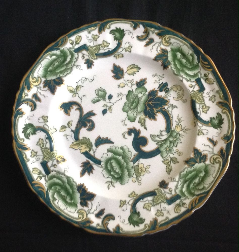 Masons 10 Inch Dinner Plate In The Hard To Find Quot Chartreuse Quot Green Floral Ironstone Made In England A Very Striking Plates Dinner Plates 10 Things