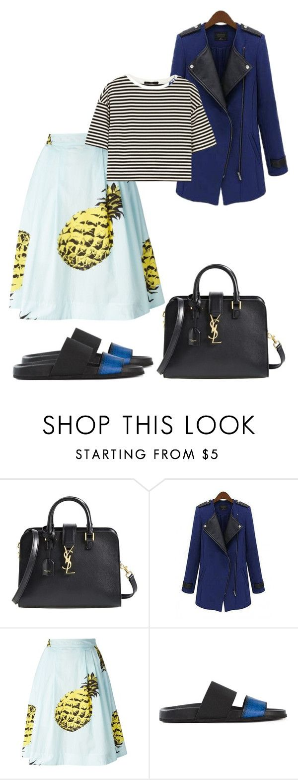 """""""Second Heartbeat..."""" by black-wings ❤ liked on Polyvore featuring Yves Saint Laurent, MSGM, Helmut Lang and TIBI"""