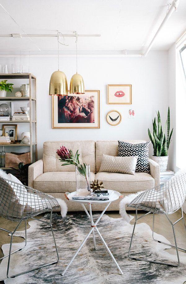 Ideen, die Ihr kleines Wohnzimmer größer aussehen lassen - kleines wohnzimmer ideen