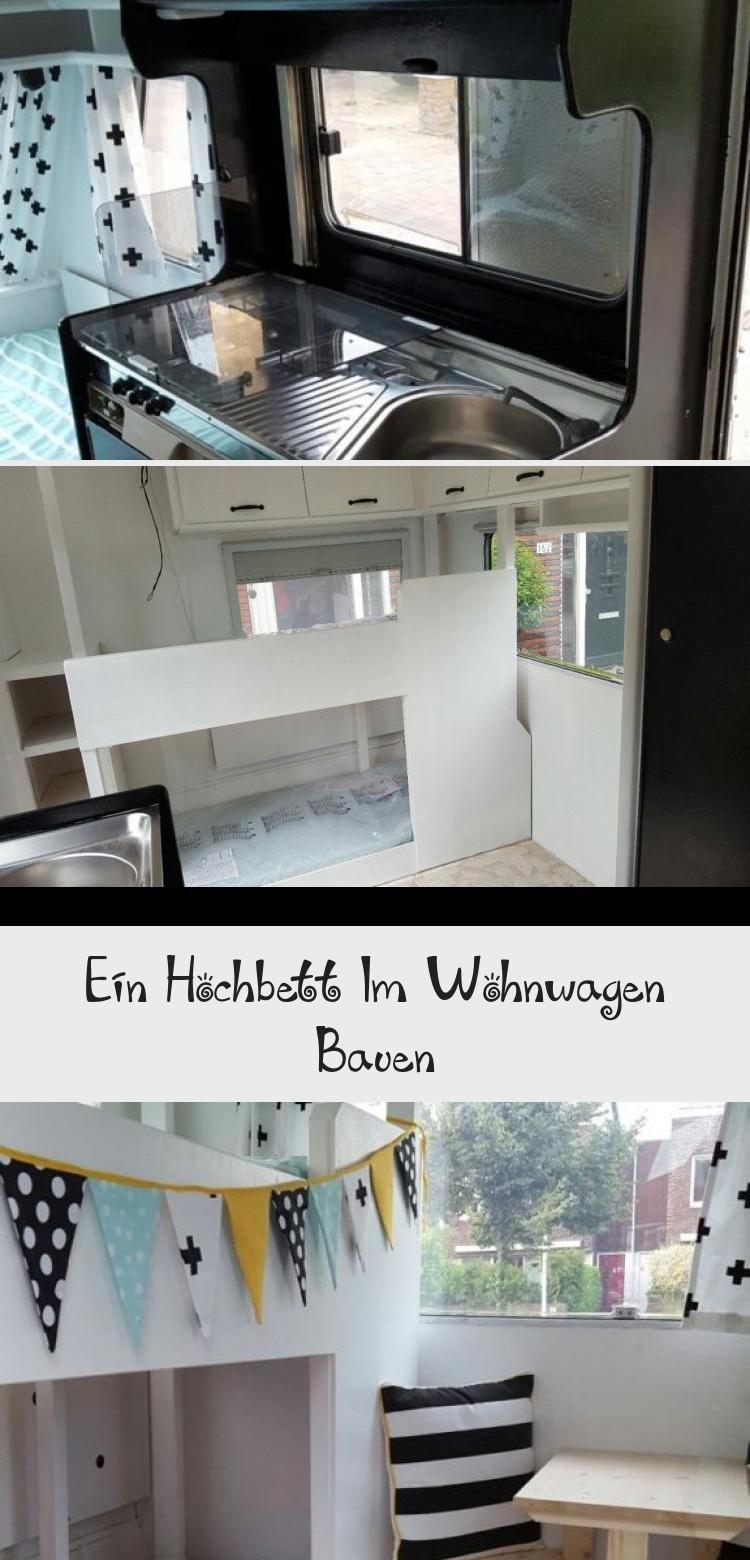 Ein Hochbett Im Wohnwagen Bauen In 2020 Wohnen Hochbett Bett