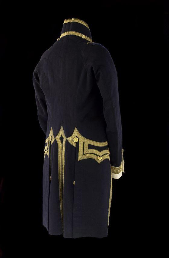 Royal Navy Uniforms Extant Garments - Captain's Dress Coat (Pattern 1812) back
