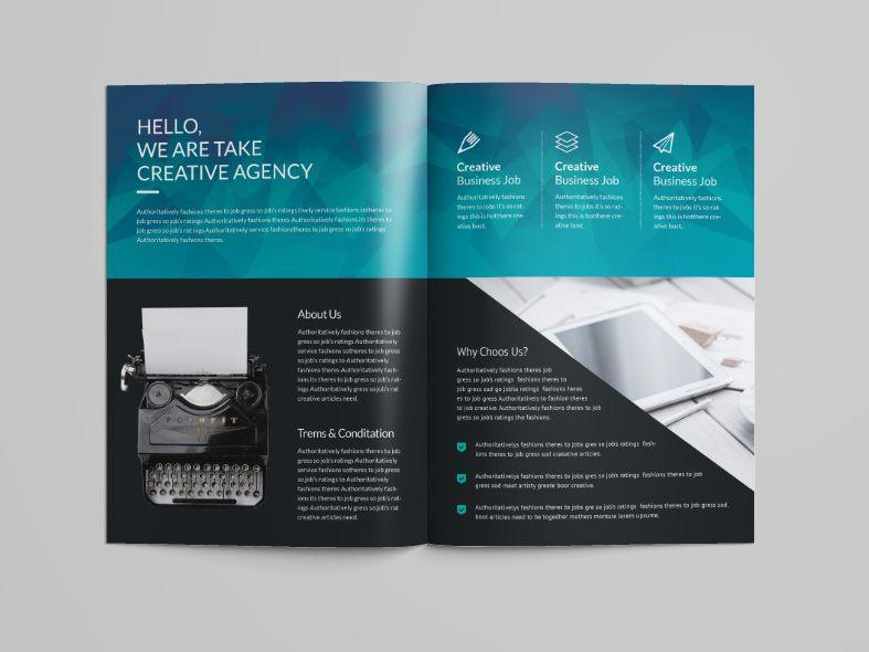 Ocean Professional Bi Fold Brochure Template Bi Fold Brochure