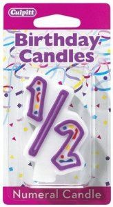 Amazon Purple 1 2 Shaped Birthday Cake Candle Home Kitchen