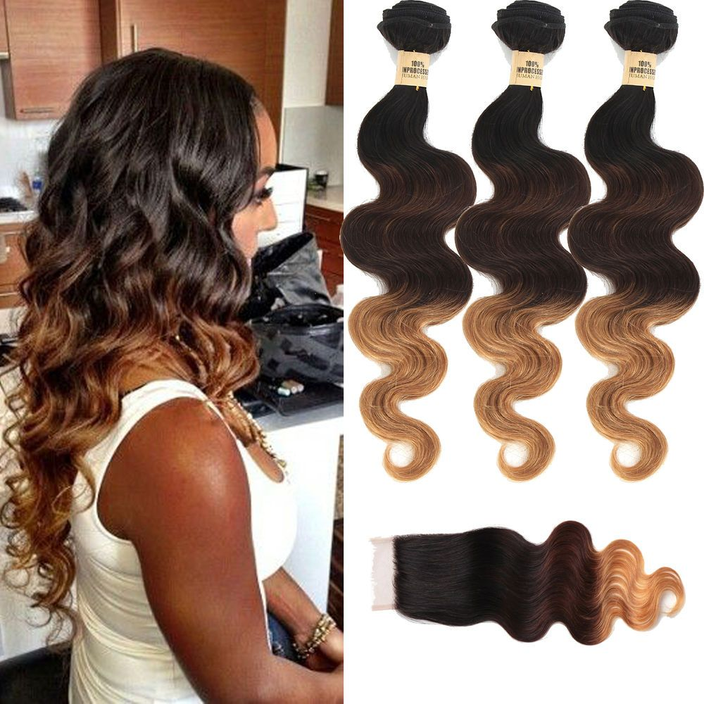 Us Hot Ombre Human Hair Extension 16182016 Top Lace Closure