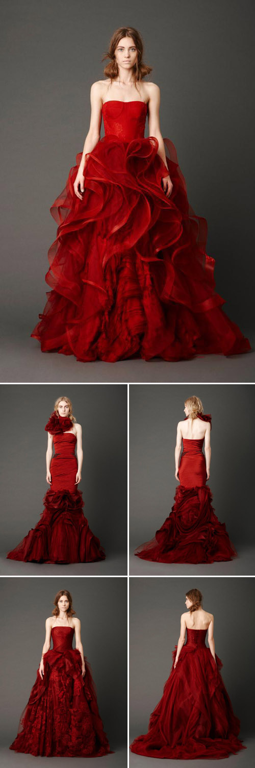 Bridal Market Vera Wang Spring 2013 Collection Junebug Weddings Spring Wedding Dress Dresses Red Wedding Dresses