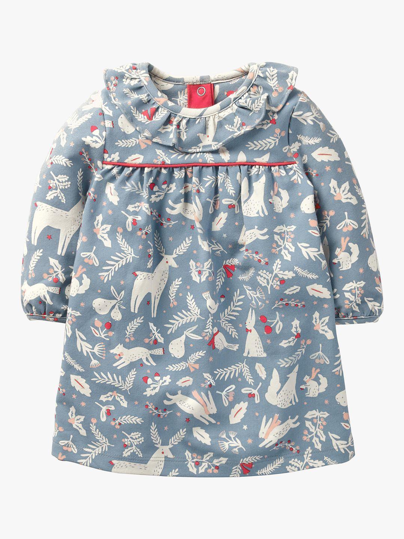 ac385ac8b95c7 BuyMini Boden Baby Christmas Animal Print Dress, Boathouse Blue, 3-6 months  Online at johnlewis.com