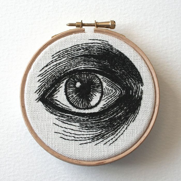 Hand-stitched Eye Artworks by Sam P. Gibson | Inspiration Grid, #Artworks #Eye #eyeartwork #Gibson #Grid #Handstitched #inspiration #Sam