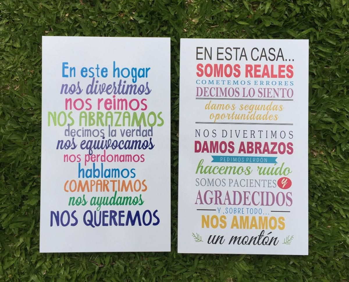 Cuadros Decorativos Frases Impresos Vinilos 20x30cm Frases