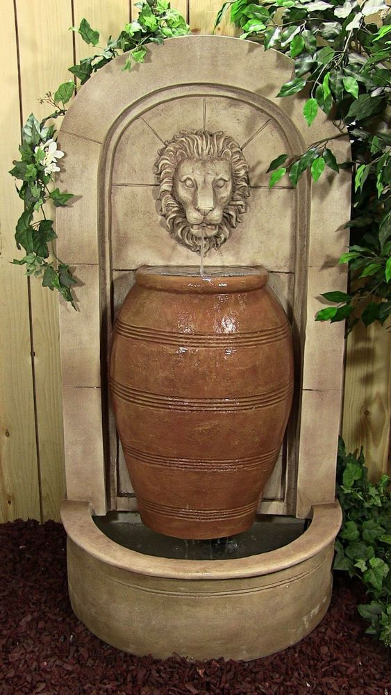 Arch Urn Lion Head Wall Water Fountain For the Home Pinterest