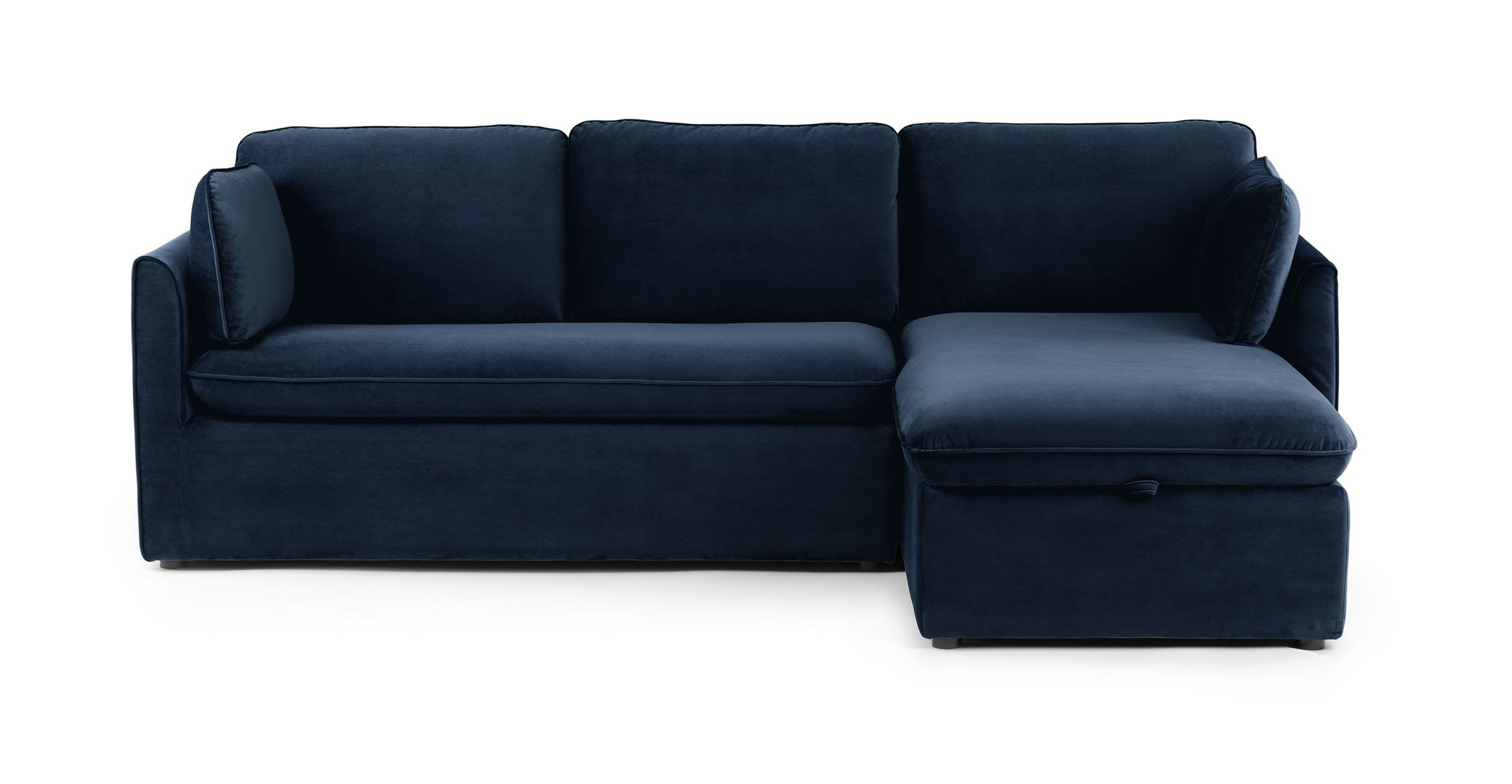 Excellent Blue Velvet Sofa Bed Right Sectional Metal Legs Article Uwap Interior Chair Design Uwaporg