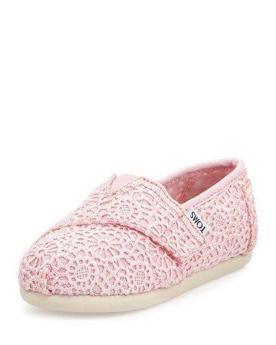 TOMS - Classic Soft Pink Crochet Tiny