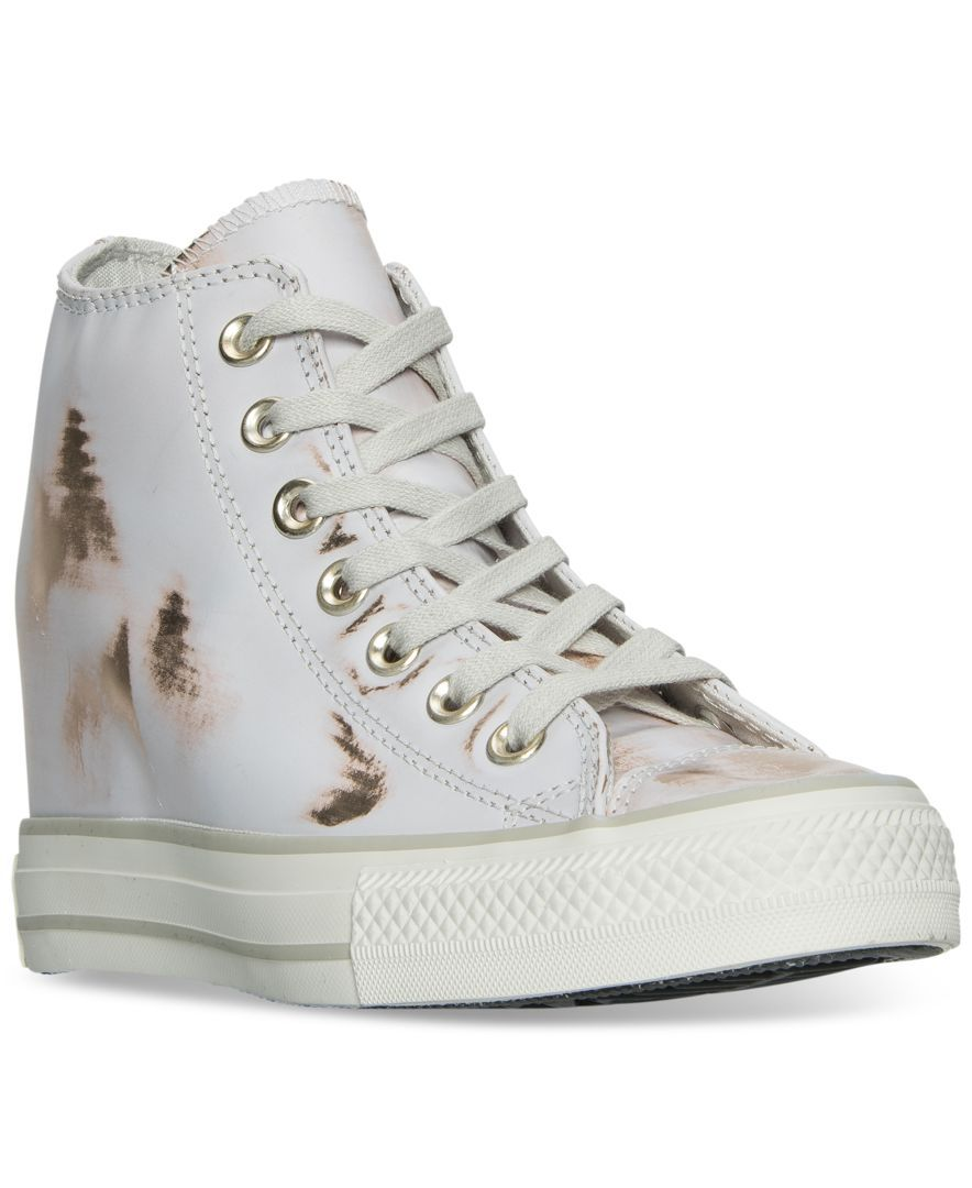 a99d5fdd61125c Converse Women s Chuck Taylor Lux Metallic Casual Sneakers from Finish Line