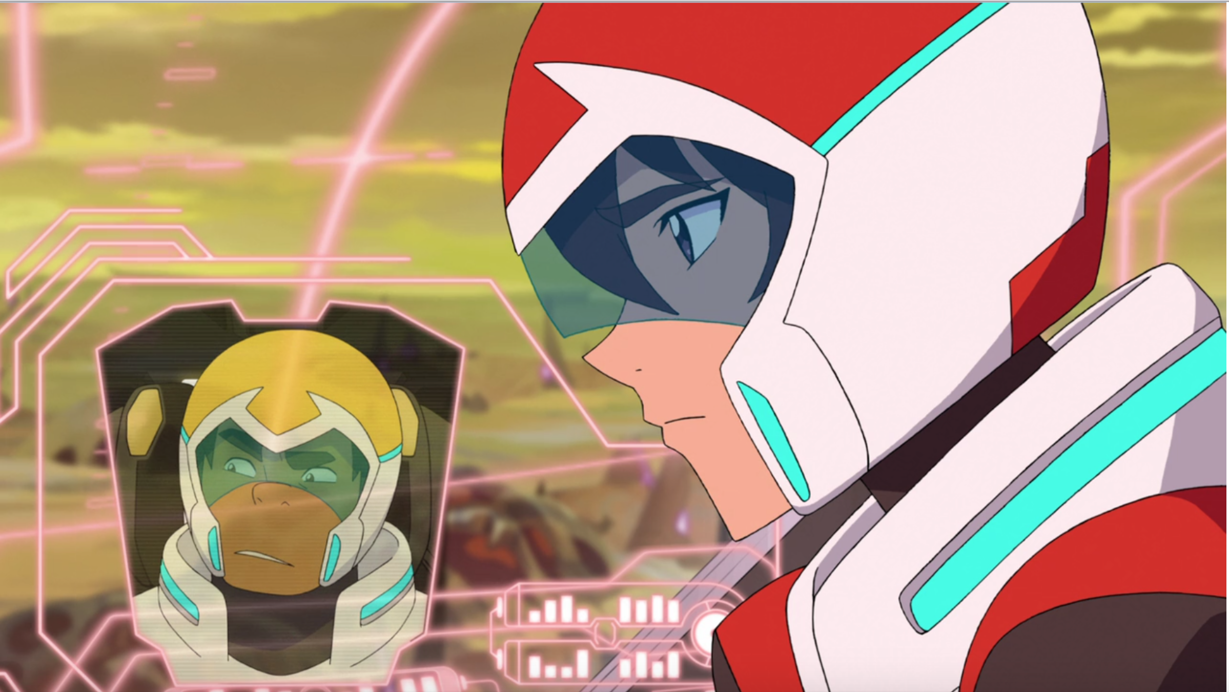Keith talking to hunk in their lions from voltron legendary keith talking to hunk in their lions from voltron legendary defender biocorpaavc