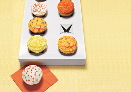 Cupcake holder from box lid