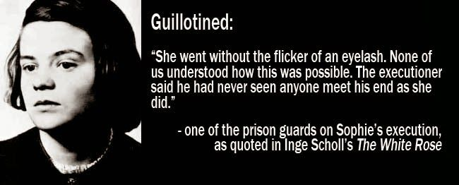 sophie scholl guillotine - Google Search